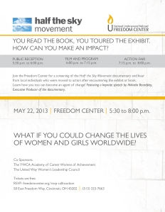 Become an Agent of Change - Half the Sky Event Invitation (2)