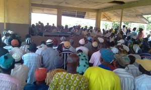 Bumpeh Chiefdom Council meeting - town hall style.