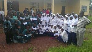 2012-13 Girl Scholarship awards - Bumpeh Academy (green) and Ahmaddiya Islamic School (white)
