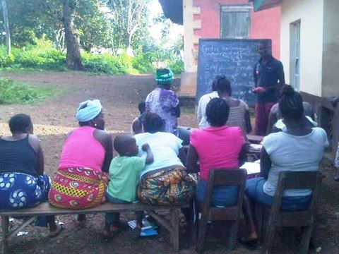 Women in adult literacy class in an afternoon lesson