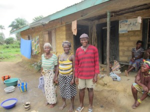 Parents of one of the Rotifunk girl scholarship students in their home village.