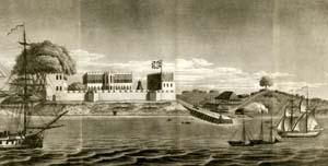 Bunce Island slave fort rendering, taken from www.bunce-island.org