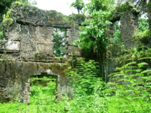 Interior wall of Bunce Island slave fort