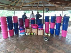 2nd batch of 100 buckets for Bumpeh Chiefdom Ebola prevention.