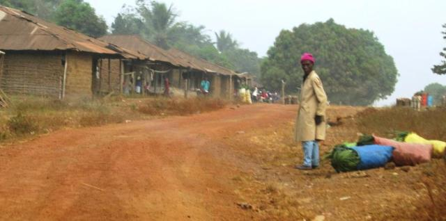 Village on road heading to Freetown