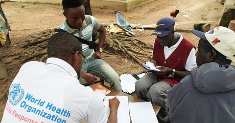 From WHO - contact tracers conduct interviews in Tonkolili District
