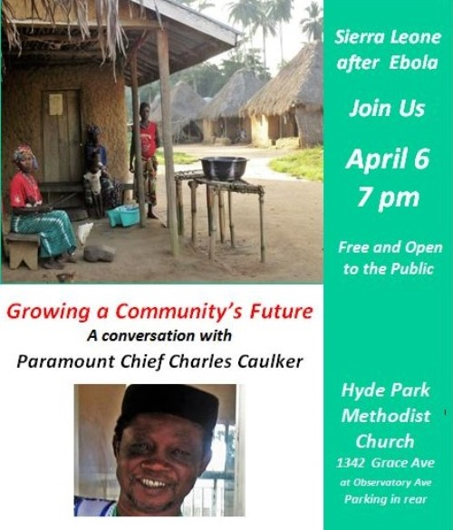 April 6 – Meet Paramount Chief Caulker